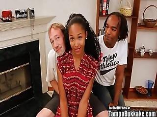 Tampa Bukakke Girls - 18yo Black Teen Cheerleader Fuckee Suckee