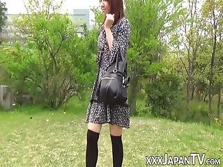 Japanese Redhead Blowing Pov Dick In The Park! The Ginger Vixen Sucks That Man Meat With Passion And Gets To Taste Cum At The End!