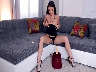 Petite Hungarian Anita Berlusconi Rides The Sybian Hard Until Orgasm