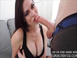 Perfect Deepthroating Brunette Slut