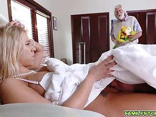 Hot Milf Katie Morgan Her Husband Returns He Has Flowers And Also Has No Idea His Stepson Is Under The Covers With His Naked Wife After He Walks Out Her And Her Stepson Fuck In Taboo And Twisted Ways She Has The Sexiest High Pitched Voice