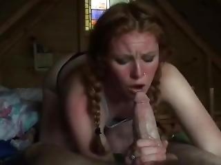 Amateur Sucks Big Cock