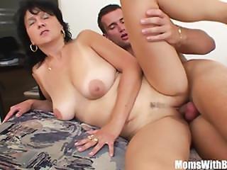 Mature Stepmom Has Sex With Her Horny Boy