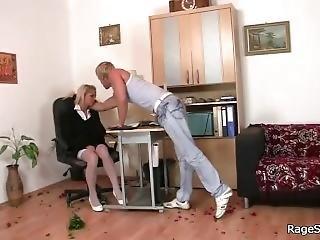 Teen Slut Rides His Angry Cock Hard