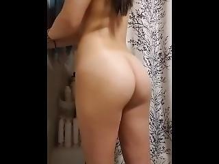 Asian Teen Tease Before Shower