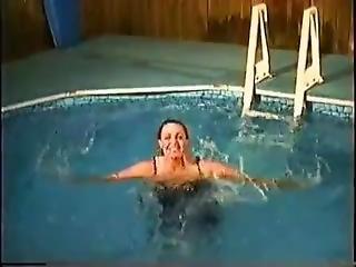 Formal Dress In Pool