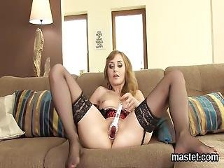 Unusual Czech Kitten Gapes Her Yummy Twat To The Special