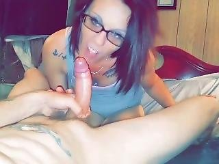 Amazing Pov Blowjob And She Swallows Every Drop Of Cum, This Wife Is Hott
