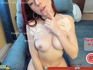 Emma_lu1 Petite Redhead Latina Striptease (chaturbate 11-16-18)