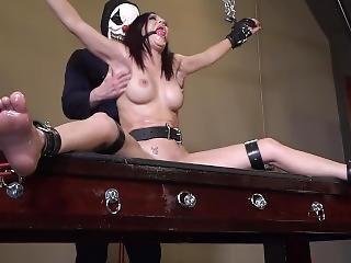 Brunette Tickle Torture