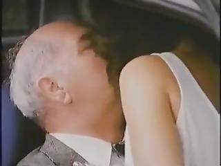 Older Grandpa In Car