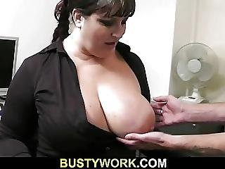 He Bangs Busty Bitch In The Office