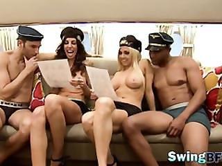 amatör, brud, lap dancing, party, verklighet, gnuggar, uniform