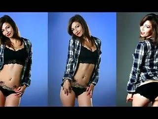 Jade Dagenais Jerk Challege How Low Can You Last Black Thong Panties