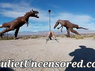 Juliet Uncensored Behind The Scenes Nude Photo Shoot In The Desert
