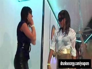 Horny Girls Dancing Erotically In A Club
