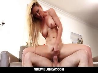 Shewillcheat Slutty Wife Devours Friends Cock