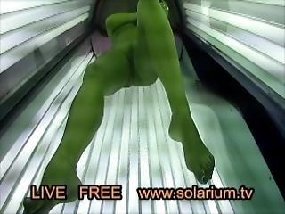 Hot Horny Girl Playing Pussy On Real Public Solarium Live Voyeur Hidden Spy Cam