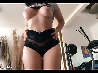 Sexy Latina Hot Brunette Pole Dancing Big Ass Safada Dancando Gostoso