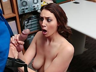 Fantastic Busty Babe Needs To Suck Guards Cock
