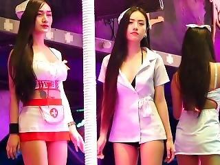 Phuket Nightlife - Beautiful Nurse Bar Girls In Bangla Road