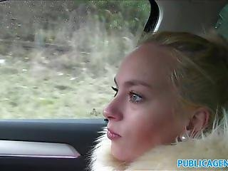 PublicAgent Blonde fucked in a car