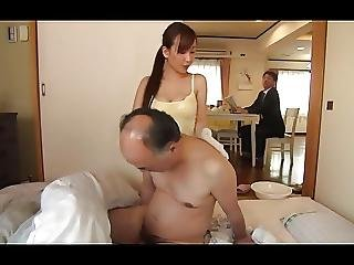 Hot Kaori Daughter In Law Falls On Not Father In Law Desire