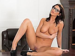 Busty Slut August Ames Fucks Her Hunk Interviewer