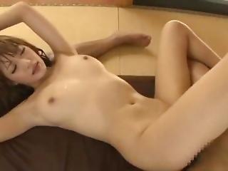 asiatique, bonasse, gros téton, pipe, éjaculation, hardcore, japonaise, star du porno, trio