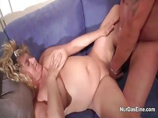 German Bbw Ma And Dad In First Time Casting Sextape