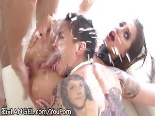 Adriana Showers Them With Squirts While Getting Assfucked