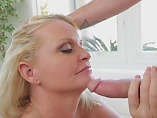 Crouching Milf Almost On Her Knees For This Massive Cock
