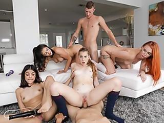 amatør, blowjob, coed, knulling, gruppesex, hardcore, hjemme, hjemmelaget, orgy, fest, pov, sex, Tenåring