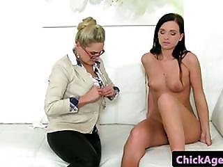 Czech Casting Babe Strapon Nailed At Audition