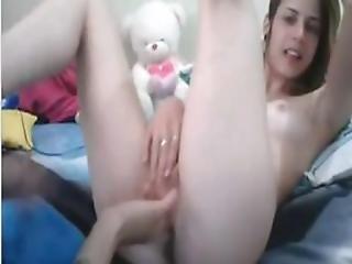 amateur, brunette, lesbish, vingeren, lesbisch, homo, tan lijnen, getint, webcam