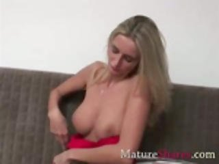 Slim Blond Matre With Huge Titties