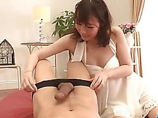 Hitomi Oki Amazes With Her Soft Sperkys In Sucking Cock