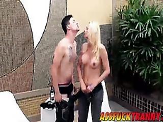 Busty Blonde Shecock Samara Lauys Drills A Sexy Stud Pablo