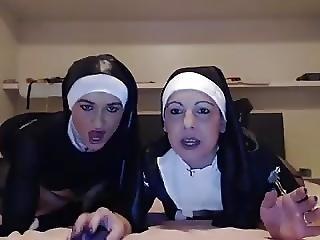 Amateur, Geil, Lesbisch, Masturbatie, Non