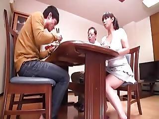cfnm, papà, giapponese, milf, giovane