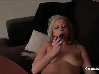 Alana Luv Masturbating Pussy With Dildo