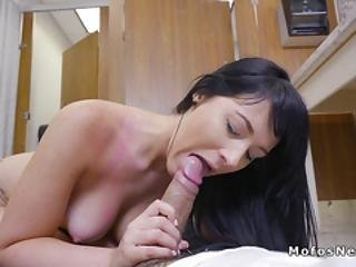 Huge Cock Cleaning Guy Bangs Busty Babe