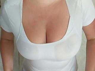 Wet T-shirt Tit Drop Beautiful Boobs
