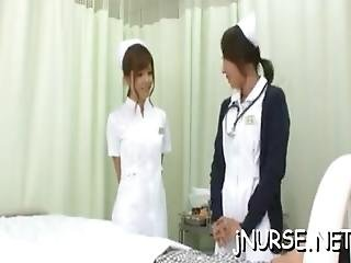 Japan Nurse Shows Off Pussy