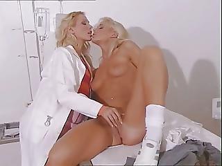 ベビー, ブロンド, ドクター, 検査, レズビアン, 荒っぽい