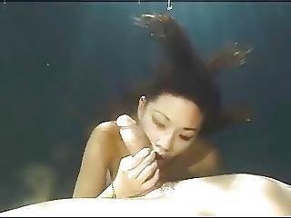 ερασιτεχνικό, ασιατικό, όμορφη, πίπα, κάτω από το νερό