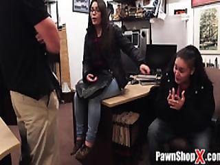 Pawn Shop Thief Avoids Being Arrested By Sucking And Fucking While Friend Watches