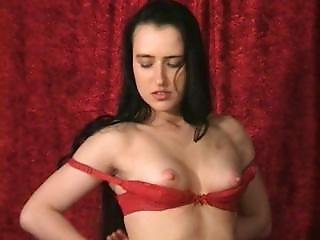 Susanna Francessca Red Bra And Panties Striptease