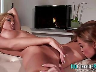 Pussy Sandwich By The Fire