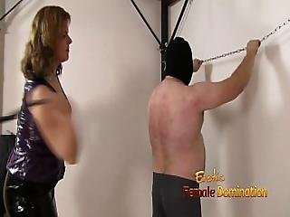 Merciless Mistress Flogs Her Slave Too Hard